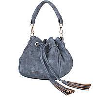 Саквояж (ридикюль) Laskara Женская сумка из качественного кожезаменителя  LASKARA (ЛАСКАРА) LK10195-denim-grey