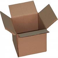 Ящик четырехклапанный 220*180*180 мм, бурый картон