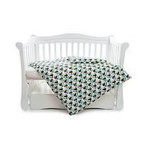 Хлопковый комплект постельного белья детский Тукан Twins Comfort line, 3 эл., зеленый
