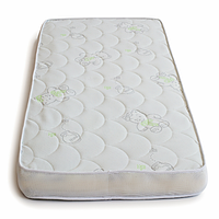 Матрас в кроватку для новорожденного кокосовый Twins Moonlight, 120 x 60 x 10 см, белый