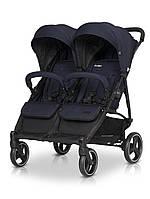 Прогулочная коляска для двойни детская с амортизацией EasyGo Domino 2020 EGDOM20-09, синий