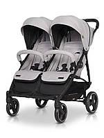 Коляска прогулочная для двойни детская с амортизацией EasyGo Domino 2020 EGDOM20-10, серый