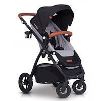 Коляска прогулочная детская с реверсивным сиденьем и надувными колесами EasyGo Optimo Air, серый