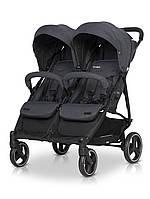 Детская коляска прогулочная для двойни с амортизацией EasyGo Domino 2020 EGDOM20-16, графит