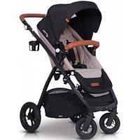 Прогулочная детская коляска с реверсивным сиденьем и надувными колесами EasyGo Optimo Air, бежевый