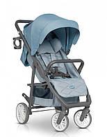 Коляска прогулочная детская с регулируемой спинкой легкая Euro-Cart Flex, голубой