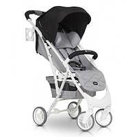 Детская прогулочная коляска с амортизатором и дождевиком Euro-Cart Volt Pro anthracite, черный