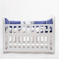 Кровать для младенца с маятниковым механизмом качания Twins Bo-Bo без шухляди, белый