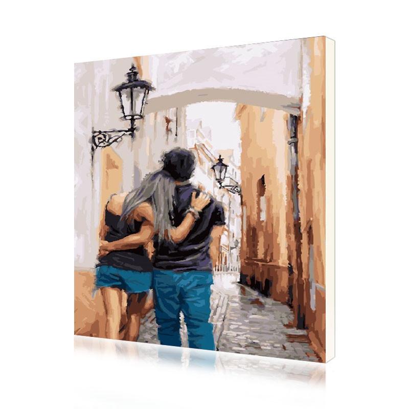 """Картина по номерам Lesko RA-3495 """"Влюблённые"""" набор для творчества на холсте 40-50см рисование"""