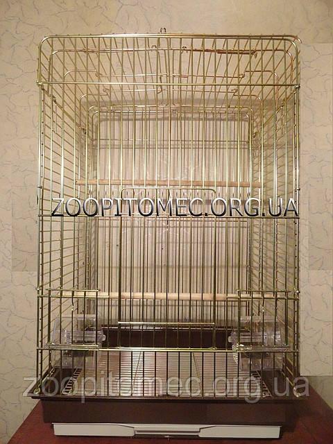 Клетка вольер для средних, крупных попугаев с открывным верхом.79*52*42 см.Фото