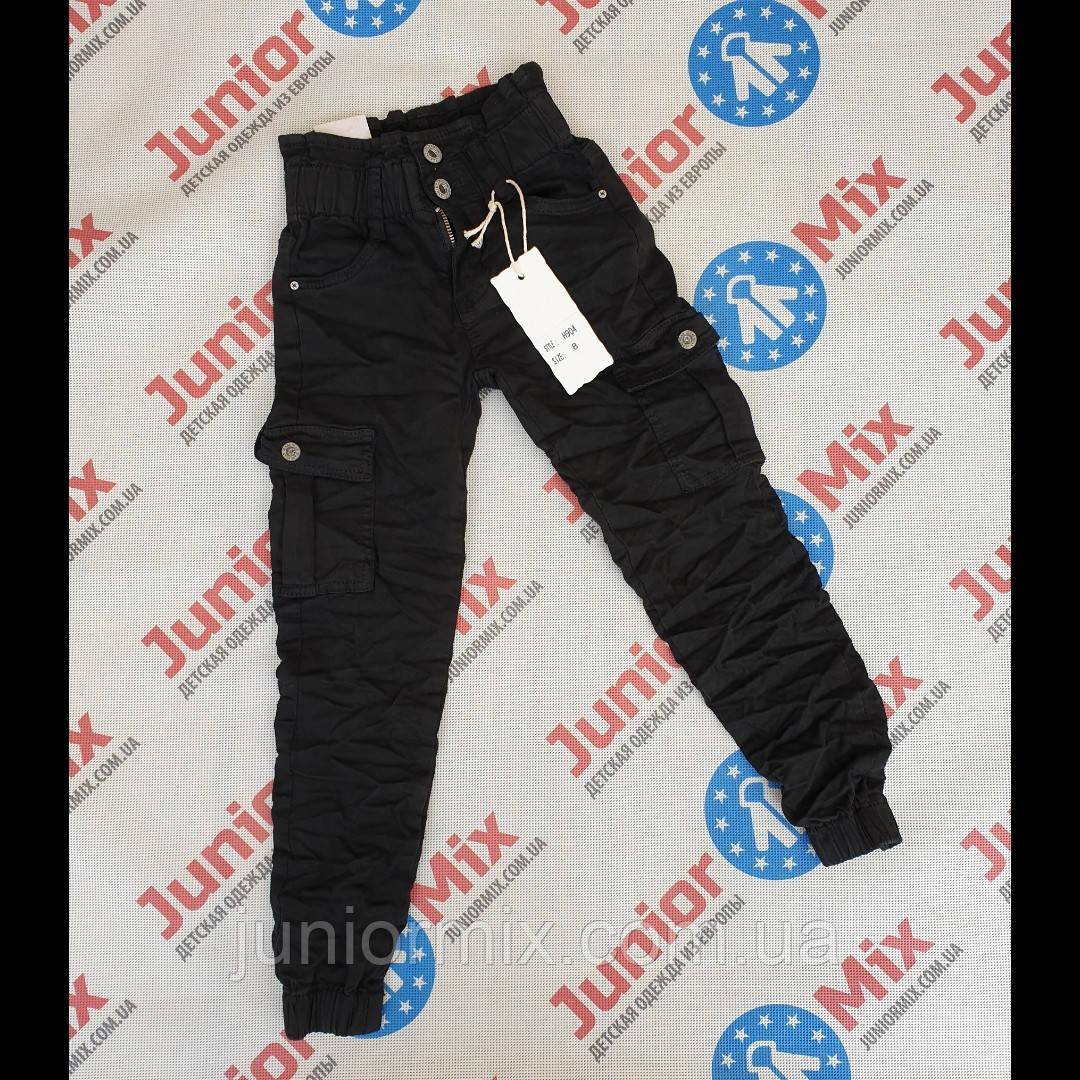 Подростковые котоновые брюки  МОМ  для девочек оптом FD