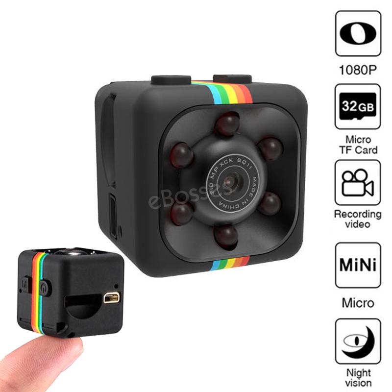 Мини камера SQ11 Sports HD DV маленькая камера с ночной съёмкой. Датчик движения