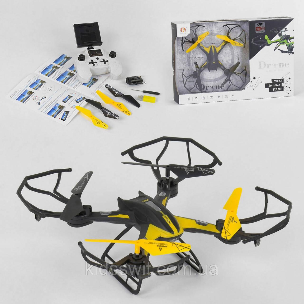 Квадрокоптер на радіокеруванні гіроскоп, камера 2МП, підсвічування, батарея 3.7v, wi-fi, CH W 202
