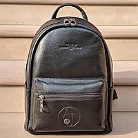 Кожаный рюкзак Giorgio Armani CK893 черный