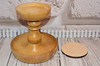 Деревянная основа под игольницу (высокая). Цвет: светлый орех.