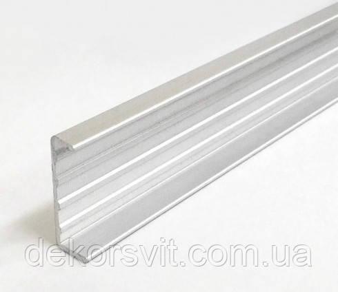 Профиль торцовочный С20 алюминиевый для ДСП