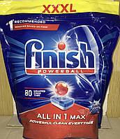 Таблетки Finish Powerball All in 1 Max для посудомийної машини 80 шт.