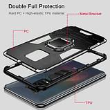 KEYSION Противоударный защитный чехол Xiaomi Redmi Note 9s / Xiaomi Redmi Note 9 Pro с кольцом Цвет Синий, фото 7