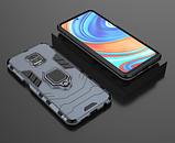 KEYSION Противоударный защитный чехол Xiaomi Redmi Note 9s / Xiaomi Redmi Note 9 Pro с кольцом Цвет Синий, фото 2
