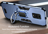 KEYSION Противоударный защитный чехол Xiaomi Redmi Note 9s / Xiaomi Redmi Note 9 Pro с кольцом Цвет Синий, фото 5