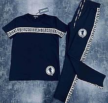 Мужской летний костюм Bikkembergs CK905 черный