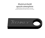 Металлическая USB флешка брелок TECHKEY 32 Gb Цвет Розовый Флэш накопитель для ноутбука и компьютера, фото 5