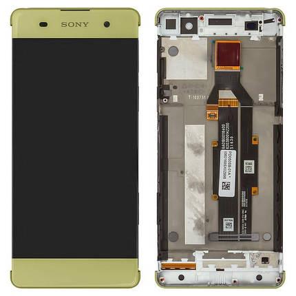 Дисплей (экран) для Sony F3111 Xperia XA с сенсором (тачскрином) и рамкой золотистый Оригинал, фото 2