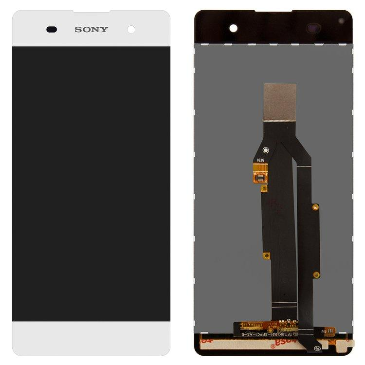 Дисплей (экран) для Sony F3112 Xperia XA Dual с сенсором (тачскрином) белый Оригинал