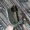 Хакі Зелені шльопанці босоніжки, шльопанці тапки плетінки сандалії літні тапки, фото 4
