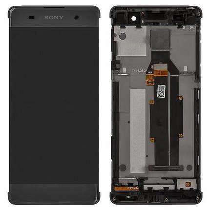 Дисплей (экран) для Sony F3113 Xperia XA с сенсором (тачскрином) и рамкой серый Оригинал, фото 2
