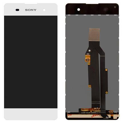 Дисплей (экран) для Sony F3115 Xperia XA с сенсором (тачскрином) белый, фото 2