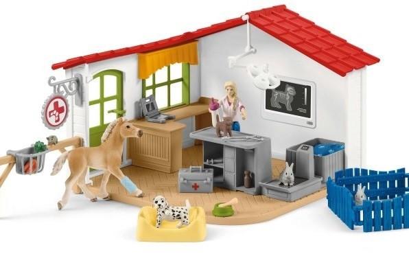 Schleich 42502  Ветеринарна клініка для домашніх тварин Veterinarian practice with pets Ветеринарная клиника