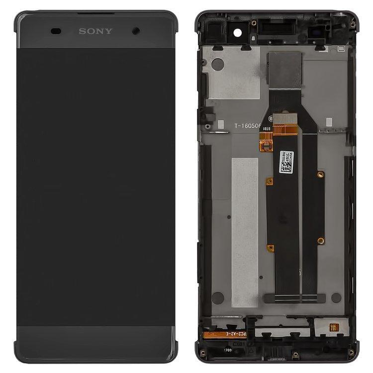Дисплей (экран) для Sony F3116 Xperia XA Dual с сенсором (тачскрином) и рамкой серый Оригинал