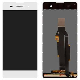 Дисплей (экран) для Sony F3116 Xperia XA Dual з сенсором (тачскріном) белый Оригинал