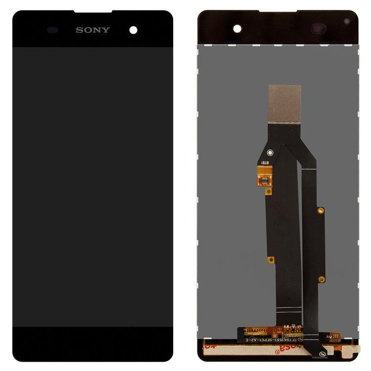 Дисплей (экран) для Sony F3116 Xperia XA Dual с сенсором (тачскрином) серый Оригинал