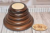 Деревянная основа под игольницу (плоская). Цвет: тёмный орех.