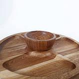 Соусник из дерева тарелка для соусов соусница для менажниц (дуб) МН- 129, фото 8