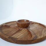 Соусник из дерева тарелка для соусов соусница для менажниц (дуб) МН- 129, фото 7