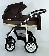 Детская коляска универсальная 2 в 1 с регулируемой спинкой Verdi Laser, коричневая