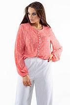 Шифоновая элегантная свободная коралловая женская блуза (Донна ri), фото 3