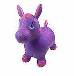 Прыгун-лошадка детская MS 0373 фиолетовый, фото 2