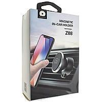 Магнитный держатель телефона в автомобиль WUW Z08 Black Черный