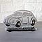 Соляной светильник Машина маленькая с цветной нашивкой, фото 4