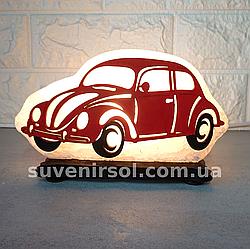 Соляний світильник Машина маленька з кольоровим оздобленням