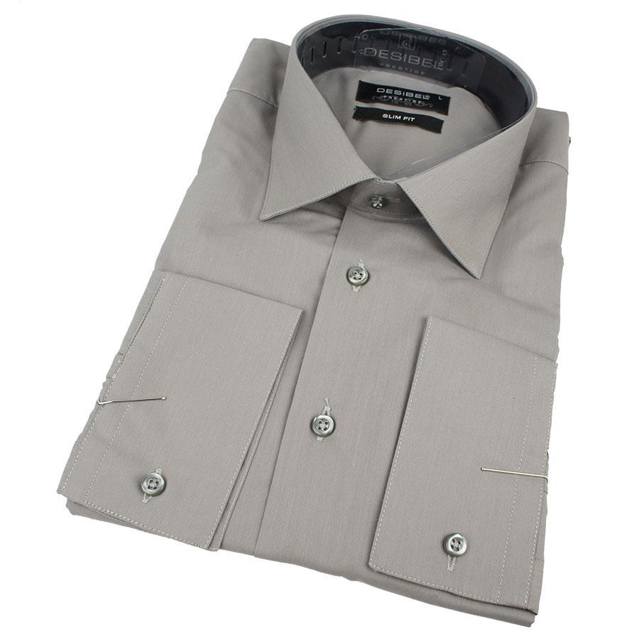 Темно-серая мужская рубашка Desibel 29062 Slim D Турция