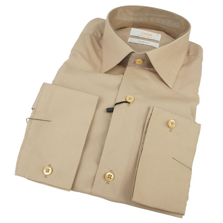 Однотонная мужская рубашка Desibel 24232 Slim D длинный рукав