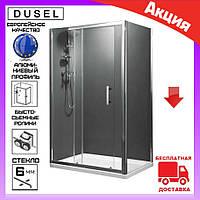 Душевая кабина прямоугольная 120х90 см Dusel А-515 дверь раздвижная, стекло прозрачное