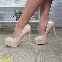 Женские лаковые туфли на высоком каблуке и платформе, sp 2230, фото 1