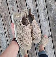 Бежевые шлепки серые босоножки шлепанцы тапки плетенки сандалии летние тапки