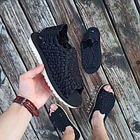 Черные шлепки босоножки шлепанцы тапки плетенки сандалии летние тапки